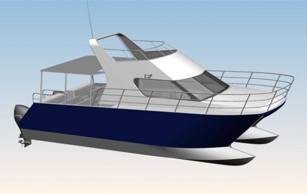 Aluminium Z Bow Cat Crew Transport Vessel