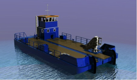 18m x 8m Meercat Road Transportable Workboat